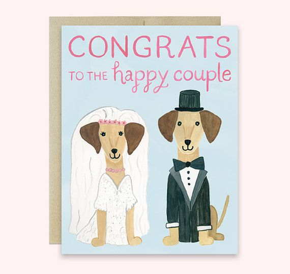 wedding card gay+ dog