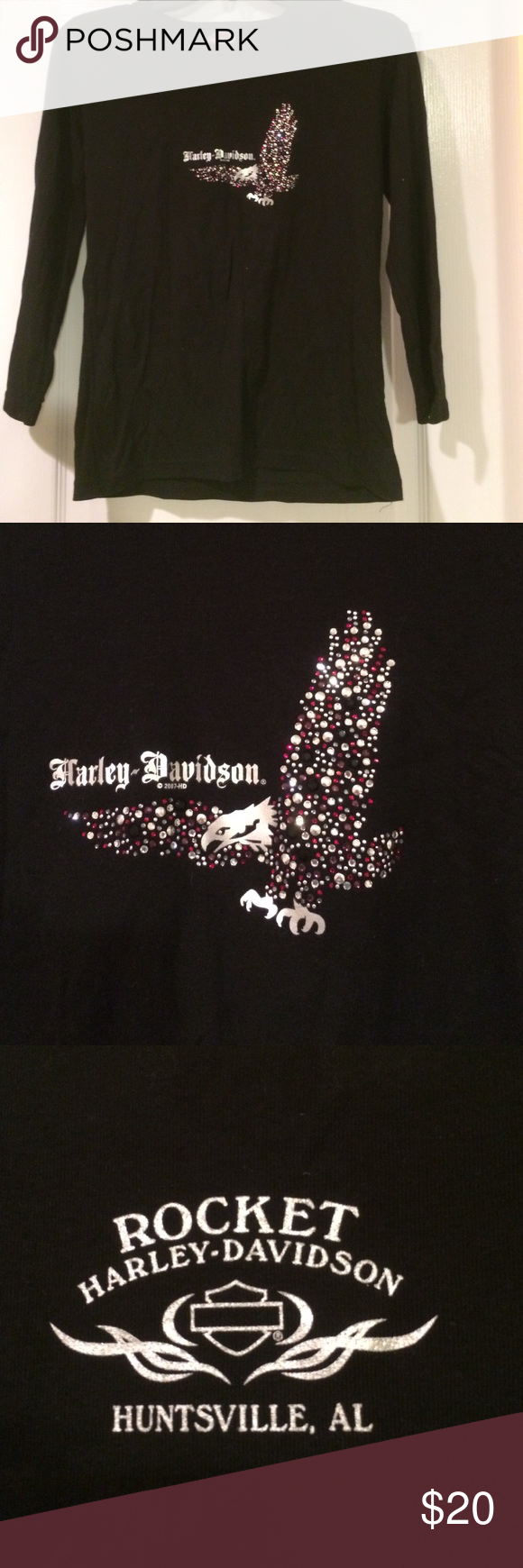 T shirt design huntsville al - Harley Davidson Long Sleeve Tee Black Huntsville Al Harley Davidson Long Sleeve Tee Has
