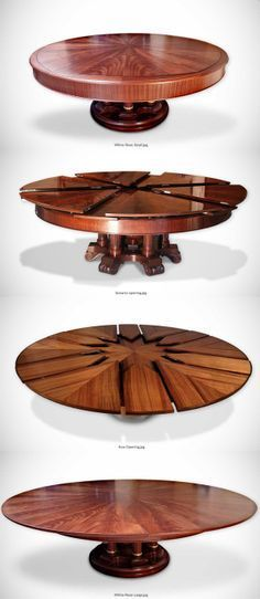 The Fletcher Capstan Table Expands By Simply Spinning The Table