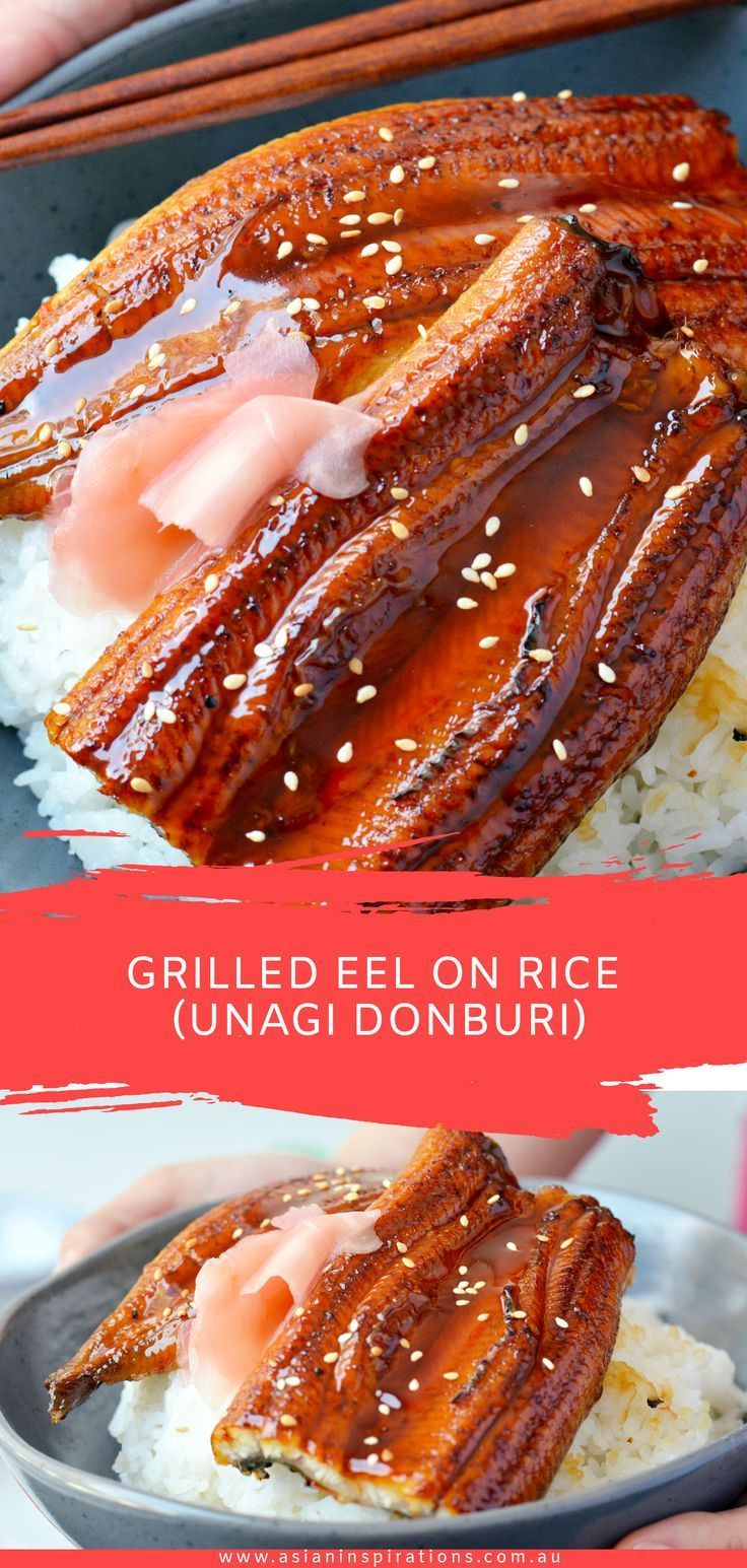Bring some of the most loved flavours in Japanese summertime cuisine into your home with this easy to make unagi donburi. The sweet caramelised sauce drizzled over perfectly grilled unagi and served over a bowl of warm rice will make any Japanese food lover mouth water! #grilledeel #eel #eelrecipe     Spicy curries, crispy Peking duck or aromatic noodle soup: Asian food is popular. In addition to Chinese restaurants, there are now many other opportunit... #Donburi #Eel #Grilled #RICE #Unagi