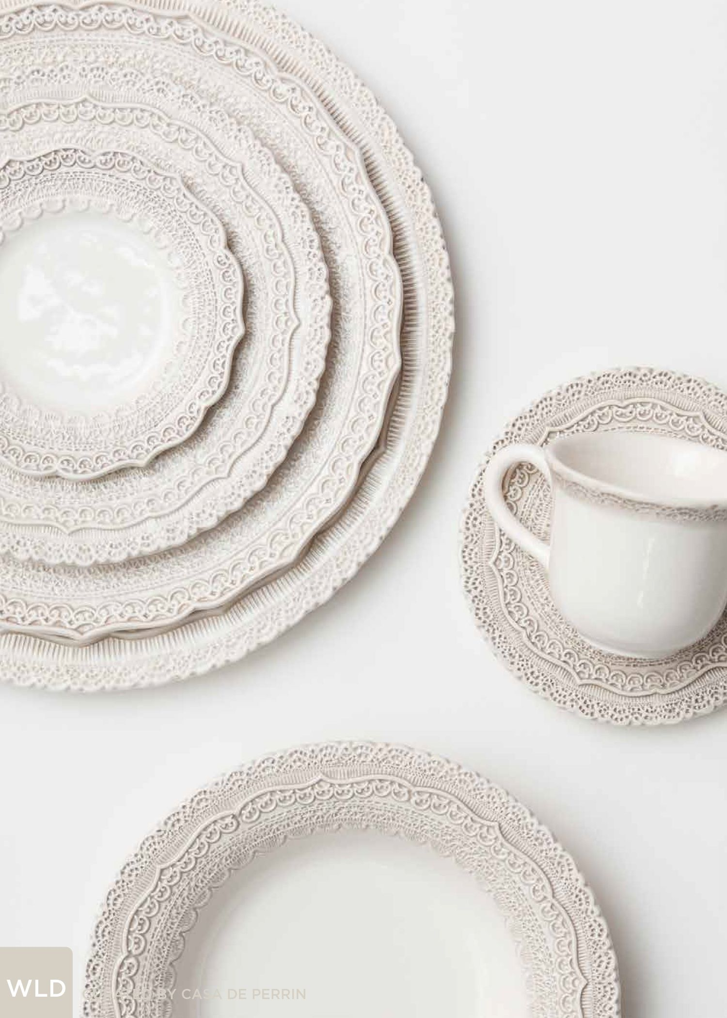 Relatively White Lace Dinnerware | Dinner Plate, Salad Plate, Bread Plate  RD02