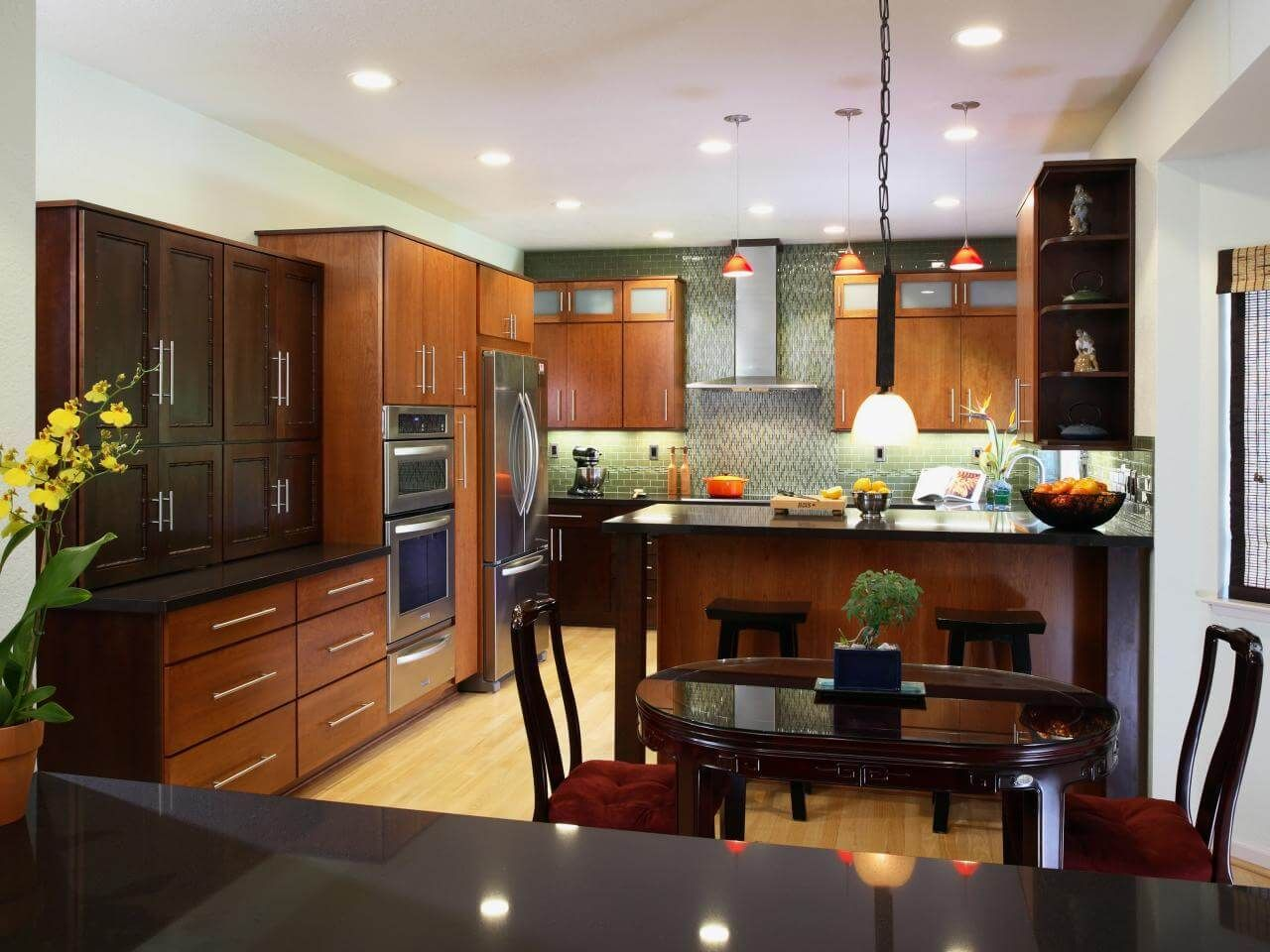It Is Not As Difficult As You May Think To Decorate Your Asian Kitchen Good Planning Good Layout And In 2020 Modern Zen Kitchen Popular Kitchen Designs Zen Kitchen