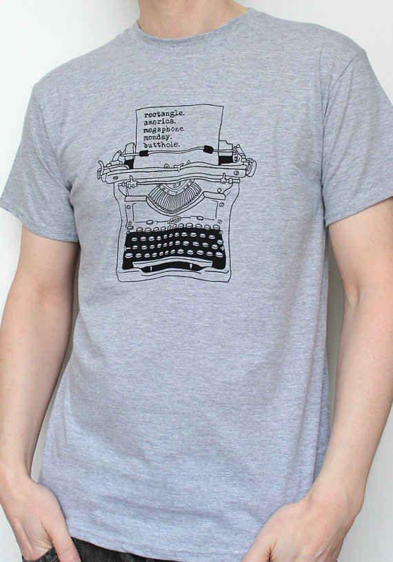 bb97ab91a Ron Swanson Typewriter T-Shirt | Treat Yo Self To 15 Of The Best