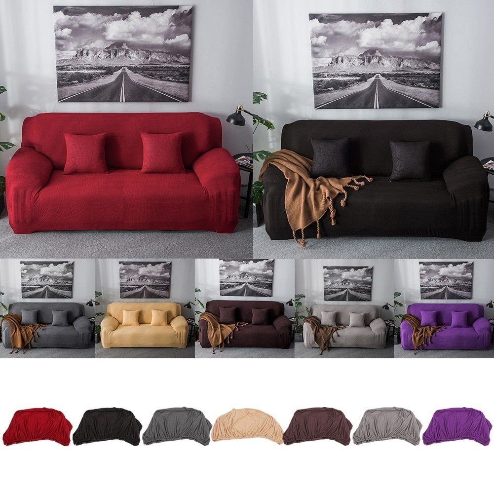 Stretch Elastic Fabric Sofa Cover Sectional Corner Couch Covers Fit Home Decor Sofa Slipcover Ideas Of Sofa Slip Covers Couch Slipcovered Sofa Couch Covers