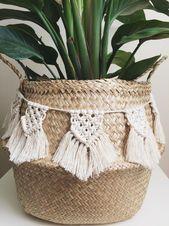 Mini Macrame Bunting   Macrame Banner   Macrame Basket Wrap,  #Banner #Basket #Bunting #handc..., ,  #Banner #Basket #Bunting #handc #handcraftshands #macrame #Mini #Wrap