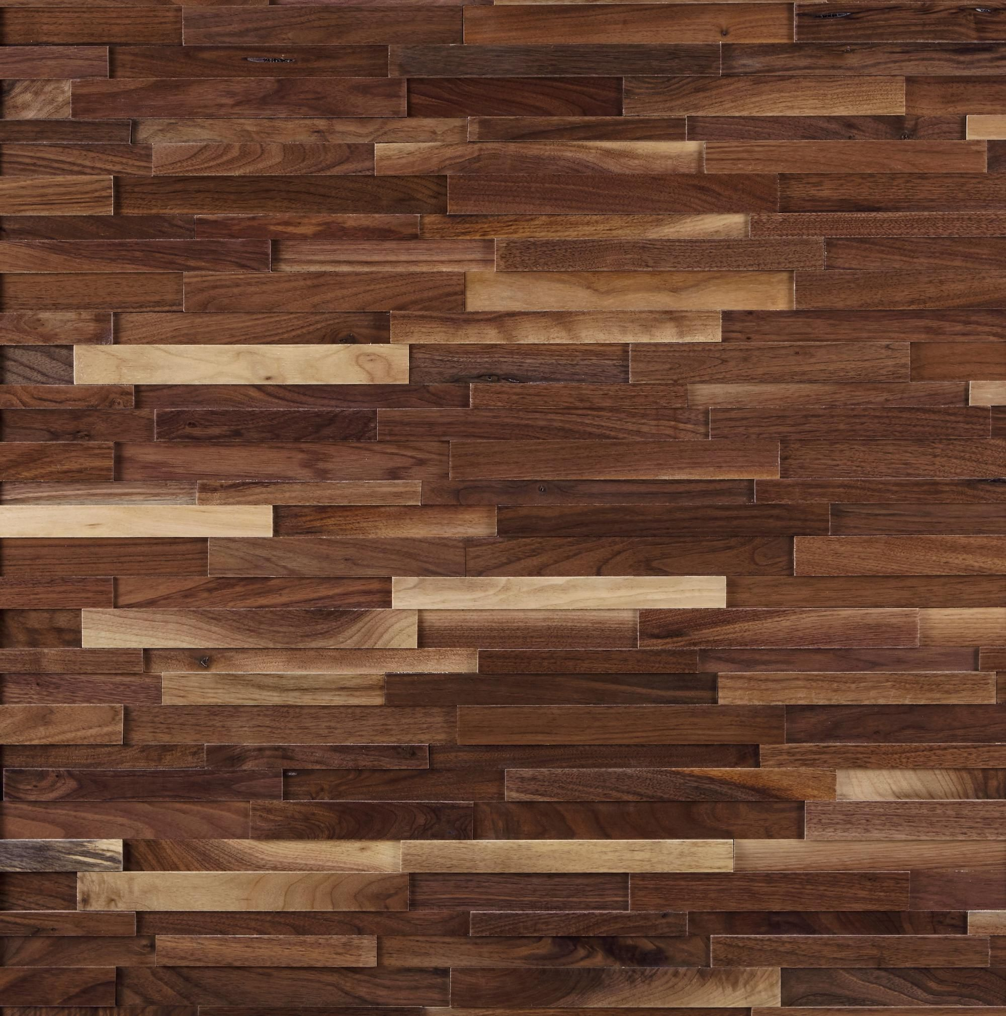 Black Walnut Hardwood Wall Plank Panel Wall Planks Floor Decor Wood Mosaic
