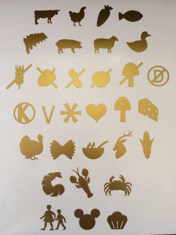 Meal Stickers Seals Menu Wedding