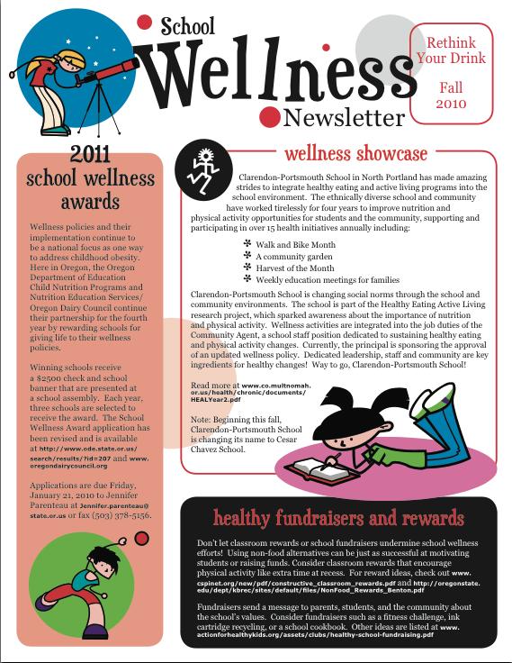 School Wellness Newsletter FA2010 School wellness