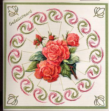 Borduurkaartje met bloem