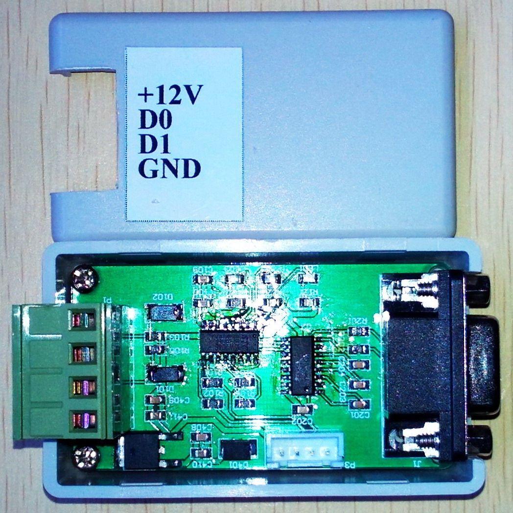 Converter /WG26/34 232/ serial Wiegand /COM port / Bidirectional