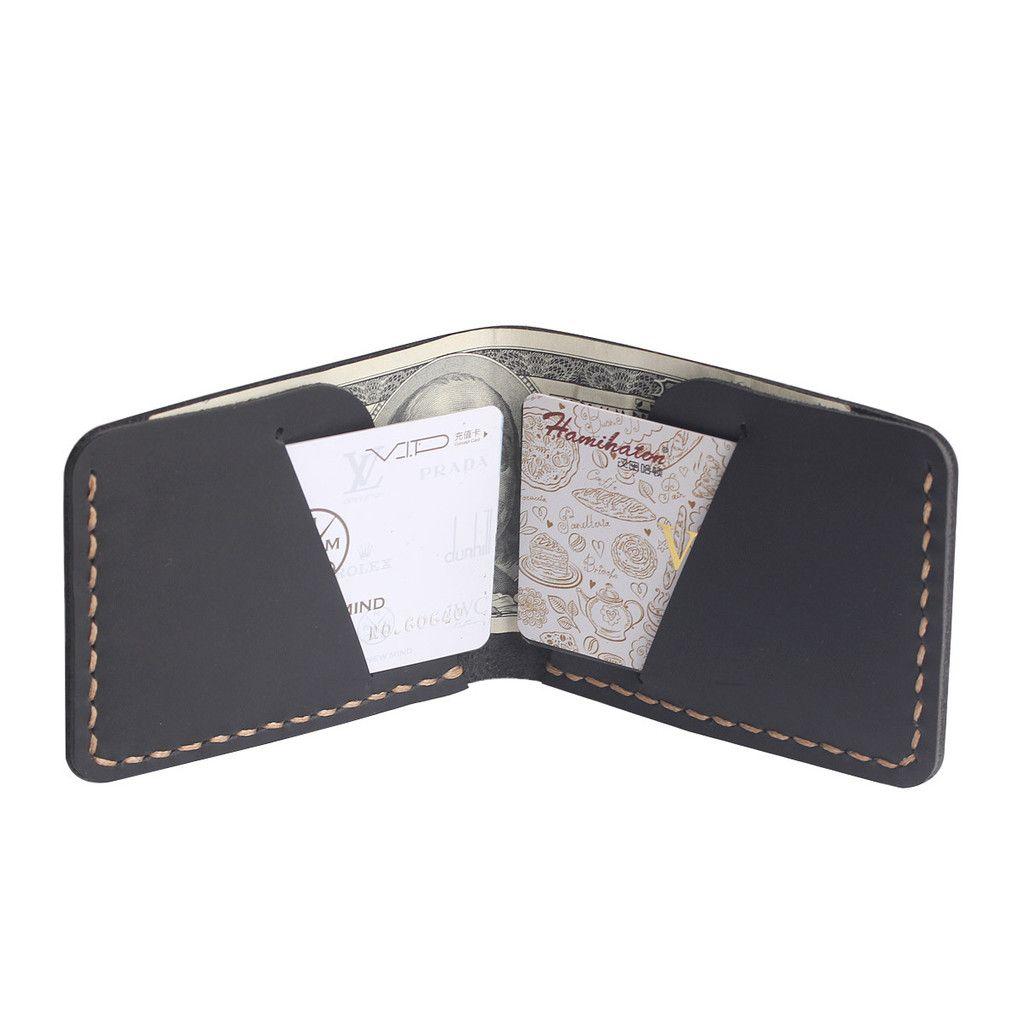17b7af7f66a66 Handmade Front Pocket Wallet - Slim Mens Leather Wallet - Minimal Wallet -  Gift for Men