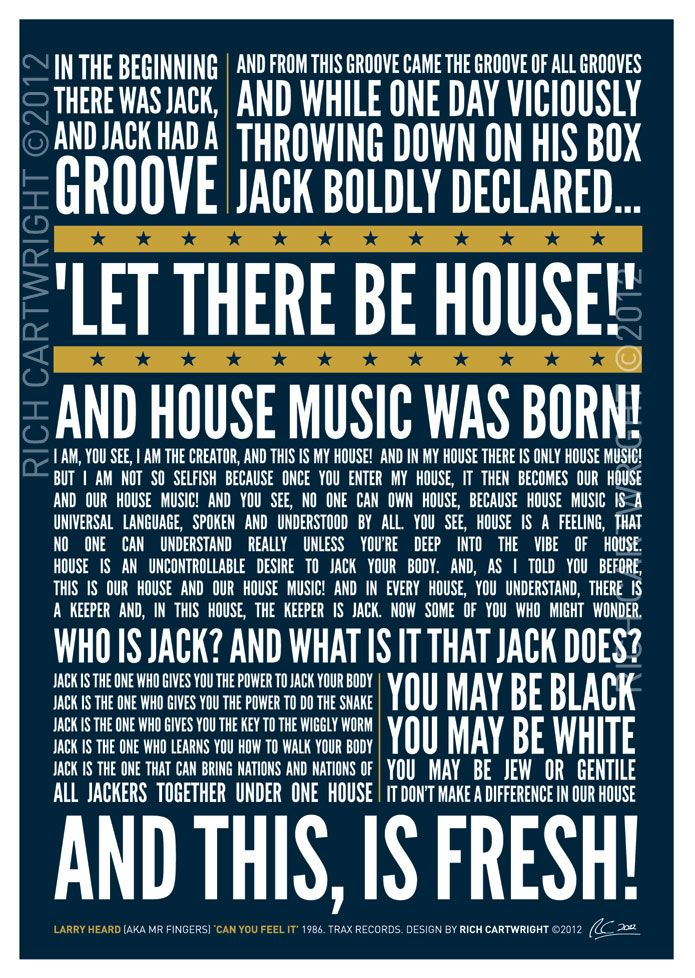 New typography poster I designed in homage to House music