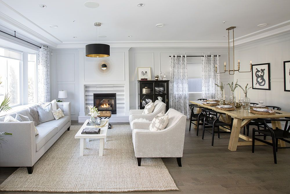 Love It Or List Vancouver I Ve Got My Eyes Set On That Beautiful Fireplace And Custom Dining Room Table