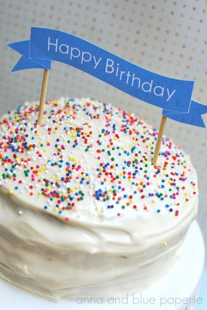 Free Happy Birthday Ribbon Printable