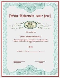 Degree Certificate Template  Hot Topics    Degree