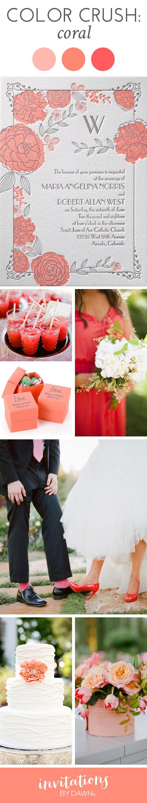 Color Crush: Coral | Pink Wedding | Pinterest | Weddings
