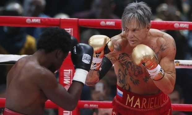 Performing Artist Mickey Rourke Beats Boxer Half His Age Mickey Rourke Mickey Performance Artist