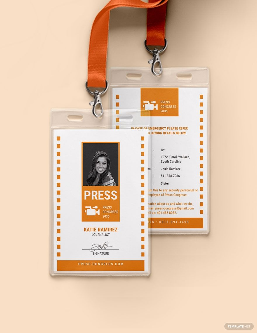 Official Press Id Card Template Ad Affiliate Press Official Id Template Card Id Card Template Card Templates Card Template Press pass template microsoft word