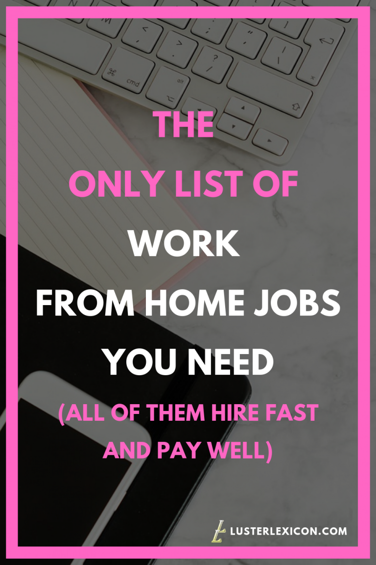 14 Best Work From Home Jobs That Hire Fast Pay Good Work From Home Jobs Legit Work From Home Home Jobs