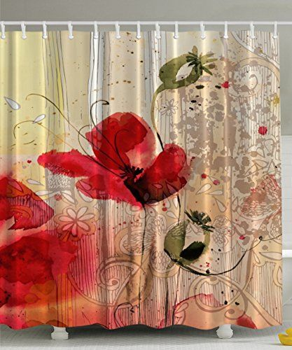 Blooming Poppy Blossoms Baroque Retro Court Lace Home Textile Art