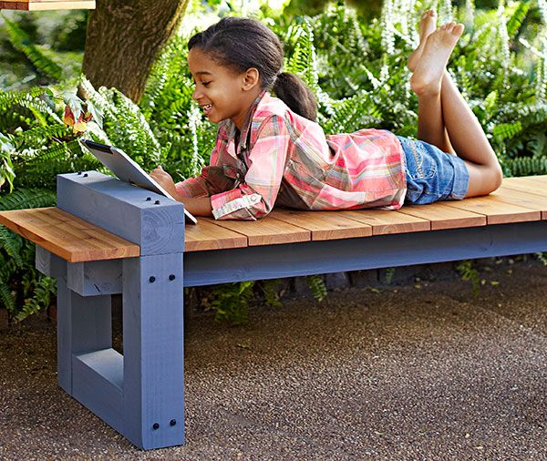 DIY outdoor bench from Lowes Creative Ideas DIY projects