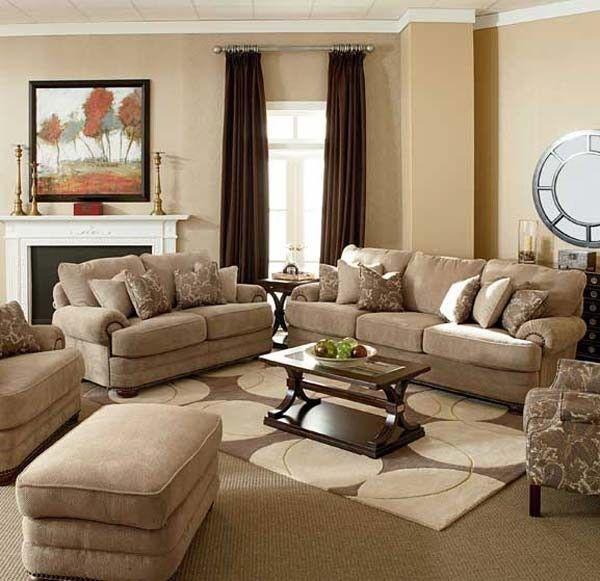 Lane Furniture Stanton 3 Piece Living Room Set In Tan