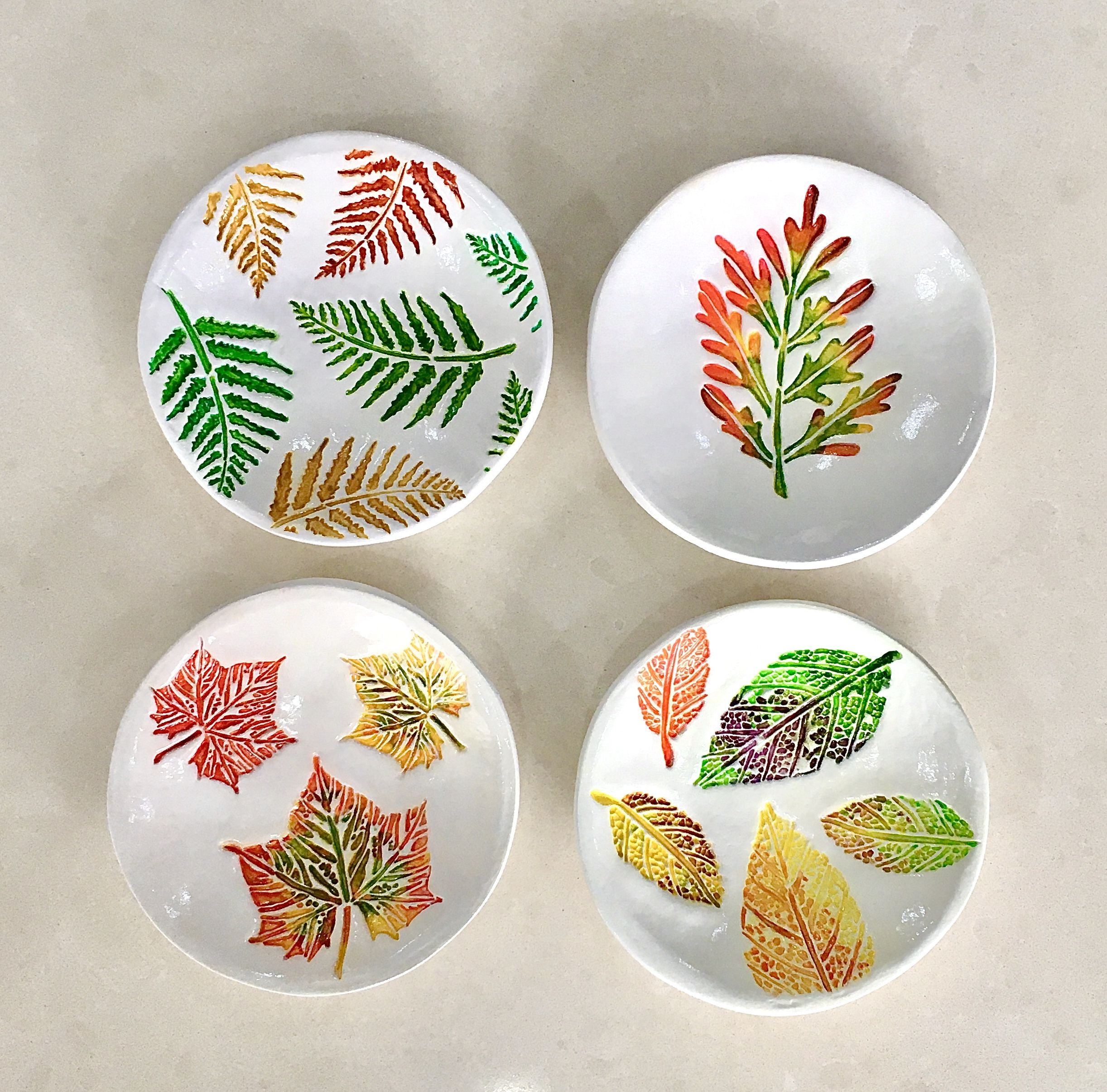 Colorful Leaves Clay Dish Diy Air Dry Clay Air Dry Clay Projects Air Dry Clay