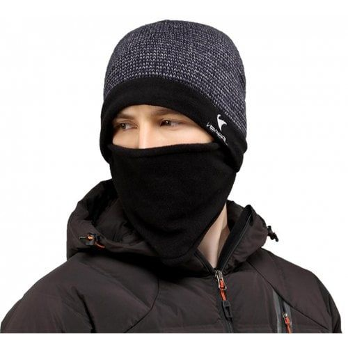 VEPEAL Winter Unisex Wool Mohair Knit Hat Bib Face Protection Ski Hat 🎀🎀🎀 67ea0b3bd22c