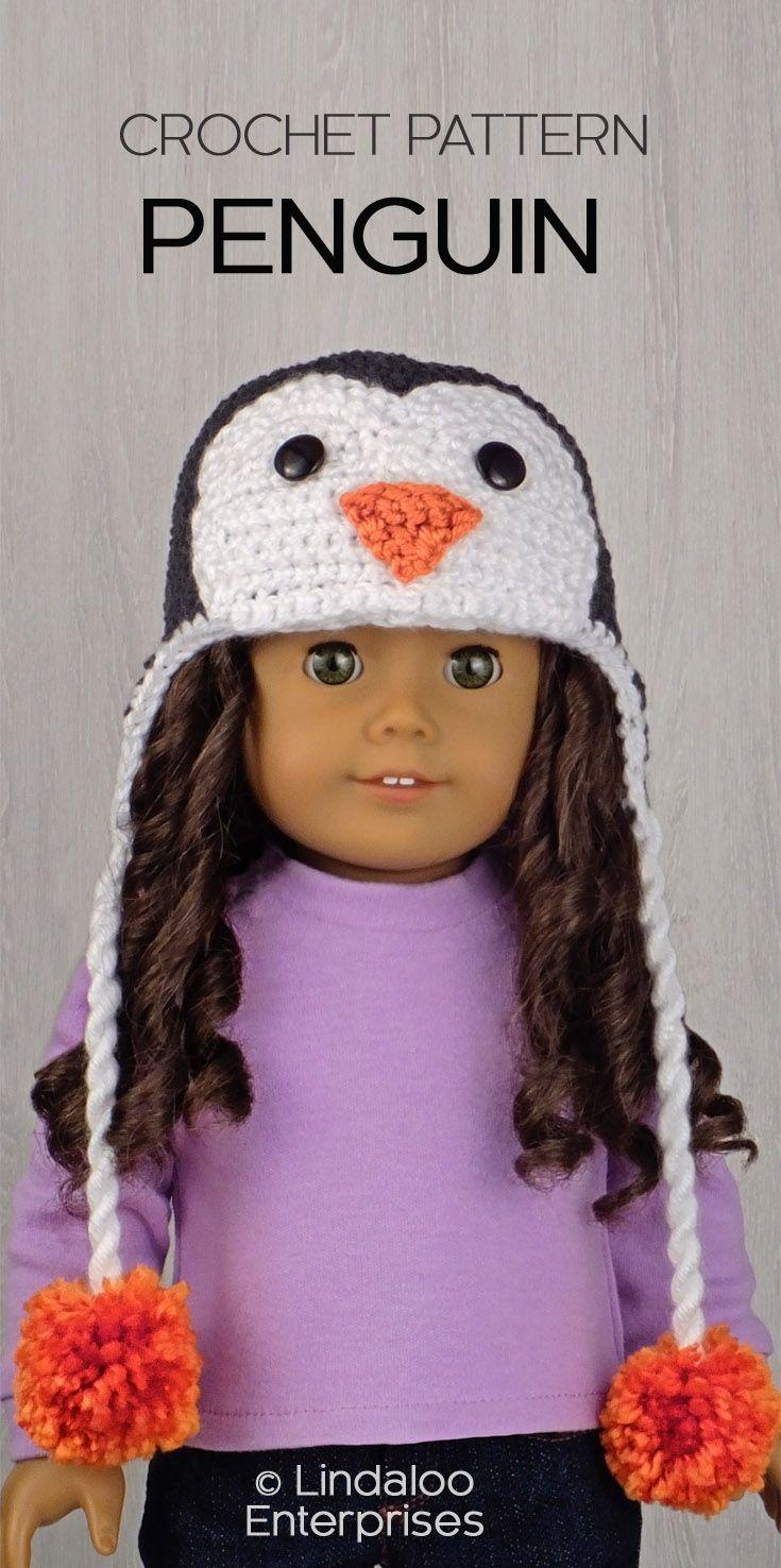 PENGUIN HAT for AMERICAN GIRL DOLLS ❤ Crochet pattern in the book ...