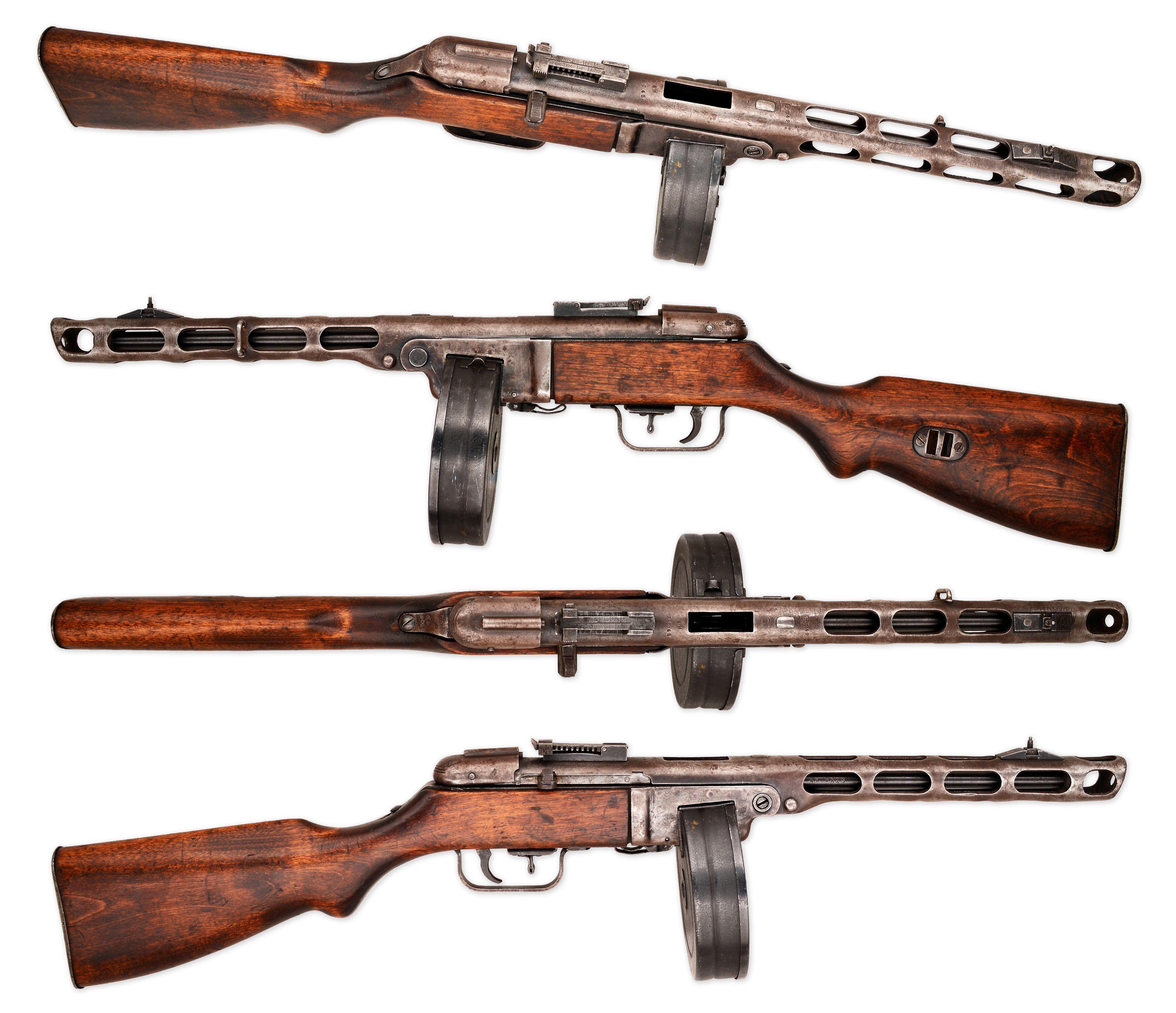 Anatomy: PPSH-41 submachine gun | Pinterest | Submachine gun ...
