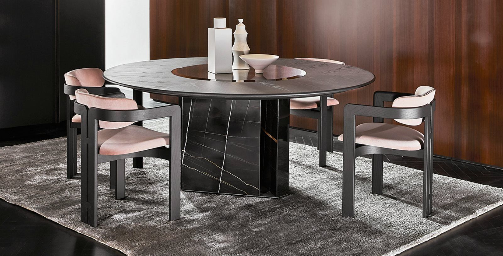 Gallotti E Radice Platinum Round Dining Table