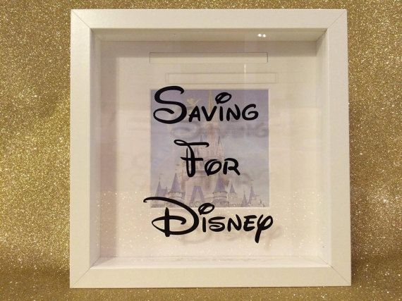 Saving for disney money box frame honeymoon by for Money saving box ideas