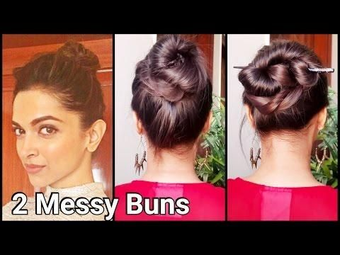 2 Messy Buns For Oily Haireasy Hairstyles For Long Hair For