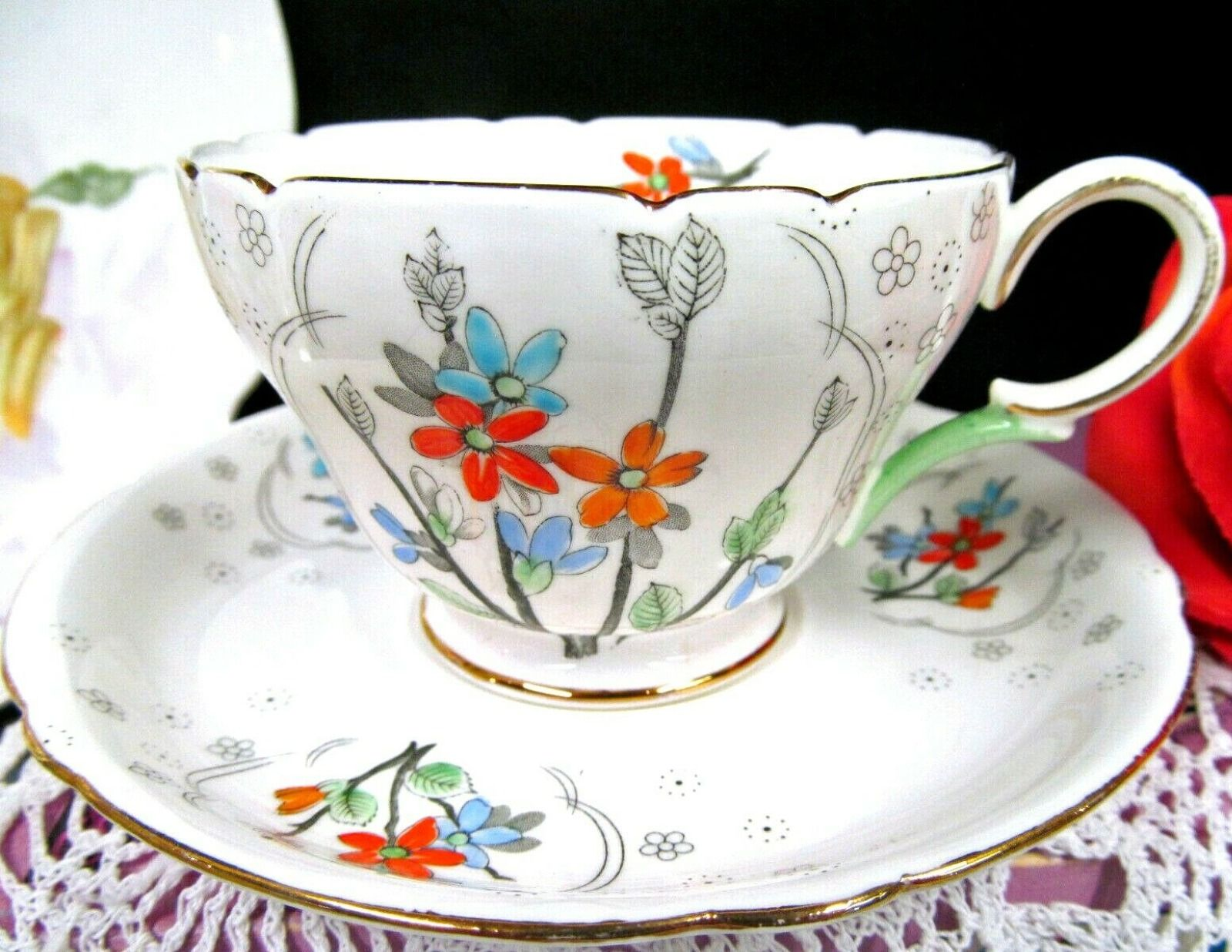 Shelley of England Cup and Saucer Fine Bone China