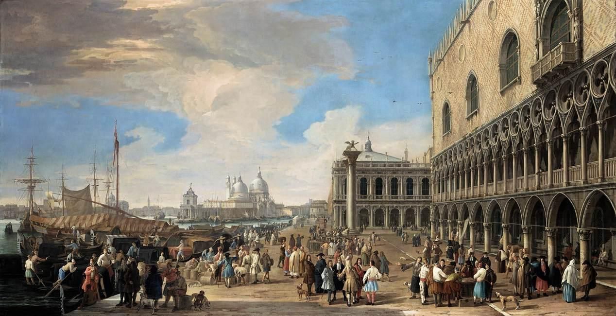 VENEZIA (1710-15). Luca Carlevarijs: Venice - A View of the Molo.