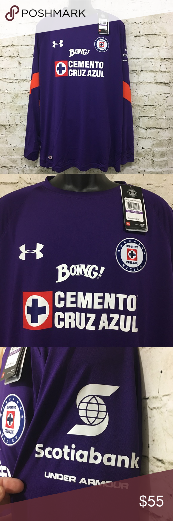 395ff15cbd1 ... under armour deportivo cruz azul soccer jersey 2xl this is a new with  tags under armour