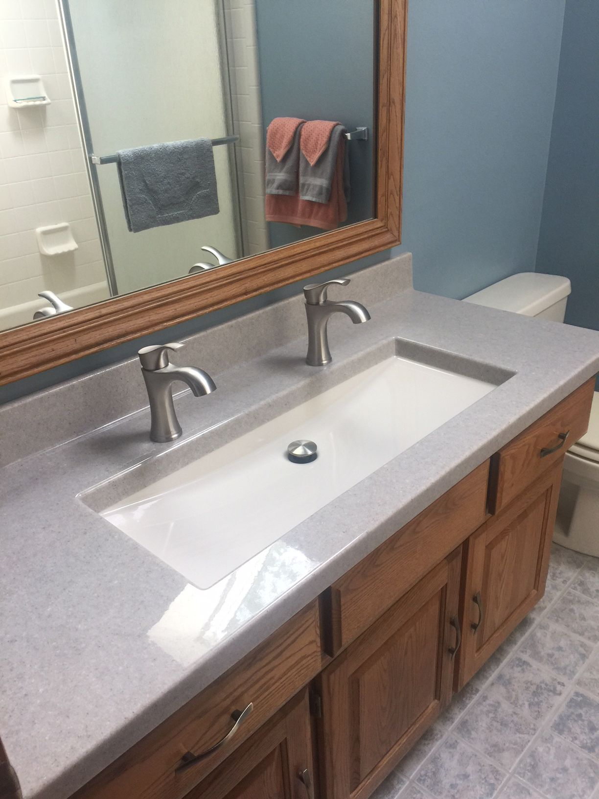 Love The Idea Of One Large Sink With Two Faucets If My Vanity Is