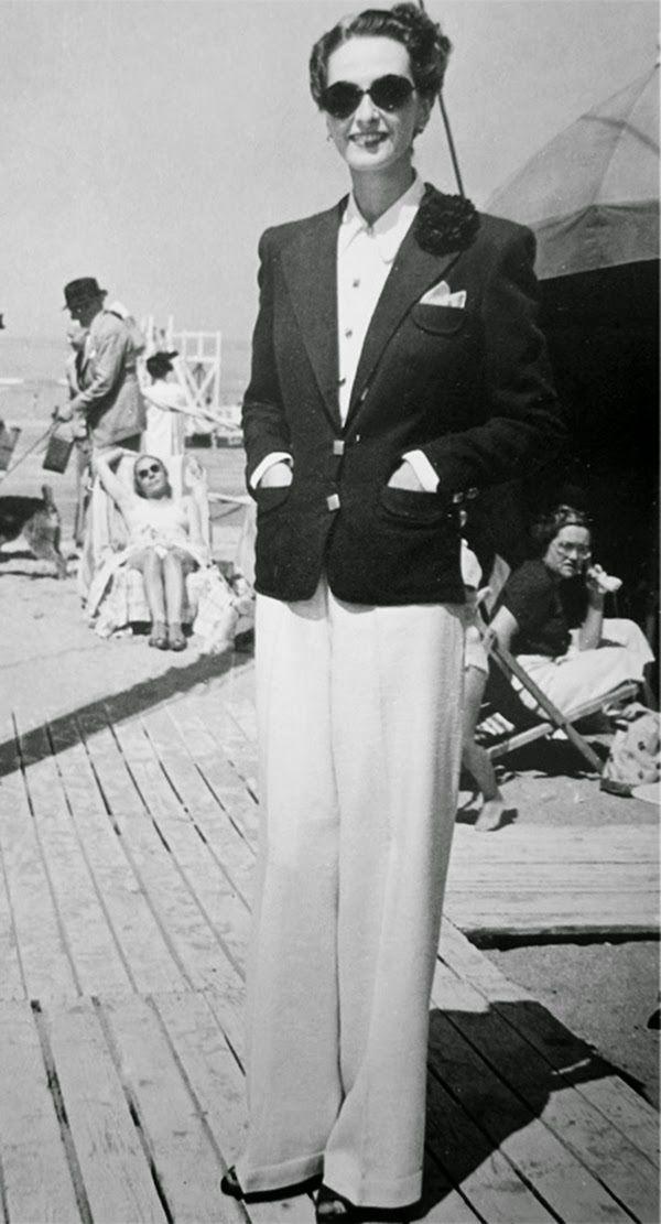 la curiosit du jeudi des femmes en pantalon mode des ann es 1930 1940 pantalons ann es 30. Black Bedroom Furniture Sets. Home Design Ideas