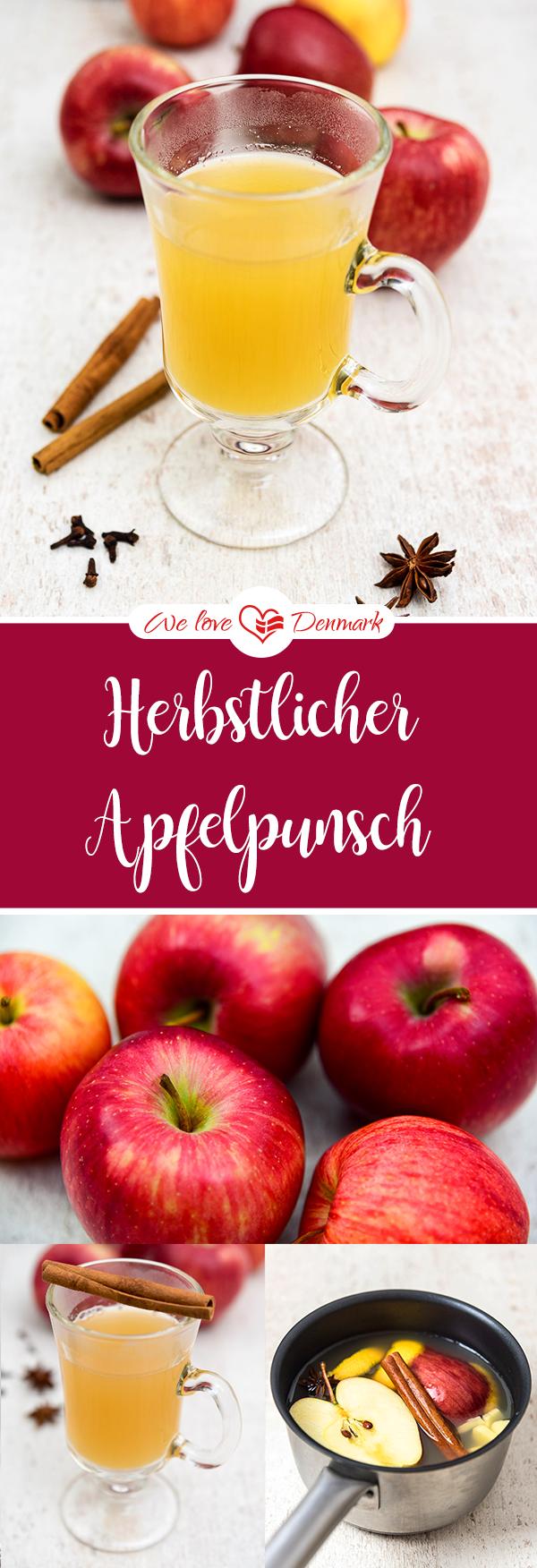 Rezept für herbstlichen Apfelpunsch mit Zimt (ohne Alkohol