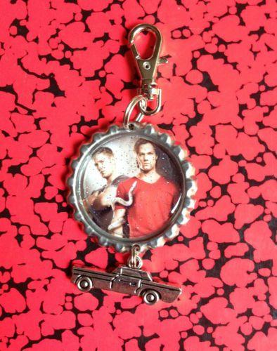 Supernatural Sam and Dean Purse or Book Bag Clip Zipper Pull or Key Chain | eBay