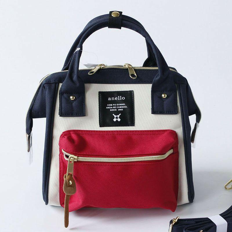 NEW Japan Anello 2 way Shoulder Handle Canvas Bag Handbag Women Girls Small