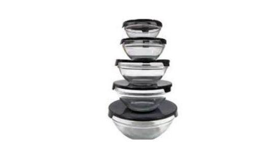 Imperial-5-Pcs-Glass-Nested-Dipping-Storage-Bowls-Lids-Black-amp-Fl-Glassware-Set