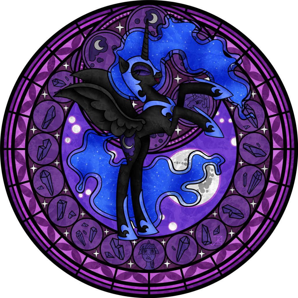 Stained Glass: Nightmare Moon -Vector- by Akili-Amethyst.deviantart.com on @deviantART