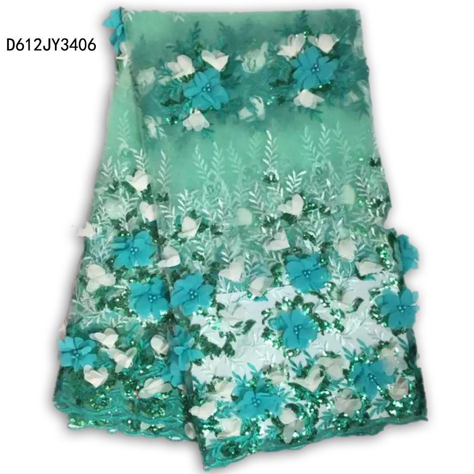 Newest 3D embroidery Chemical Guipure,African lace Fabric Sequin ...