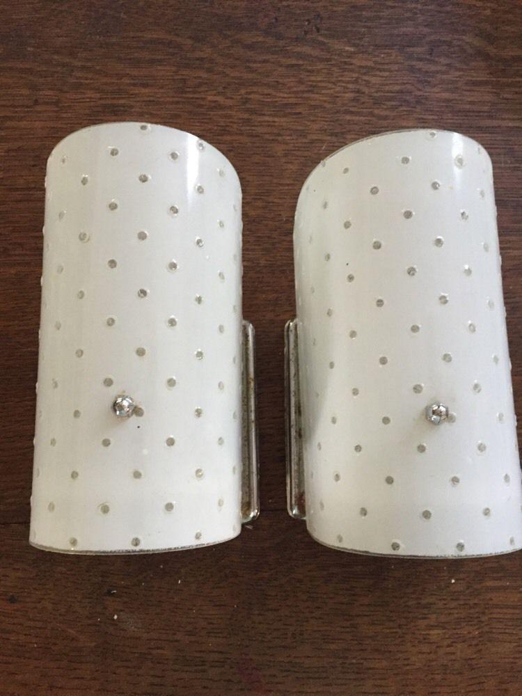 Vintage Bathroom Vanity Lights pair 1940's art deco bathroom vanity light fixtures sconces chrome