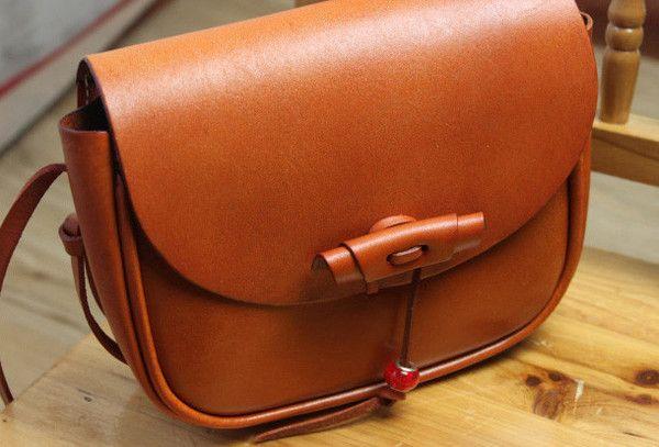 Handmade shoulder bag Genuine vintage rustic leather crossbody messenger Shoulder Bag for women