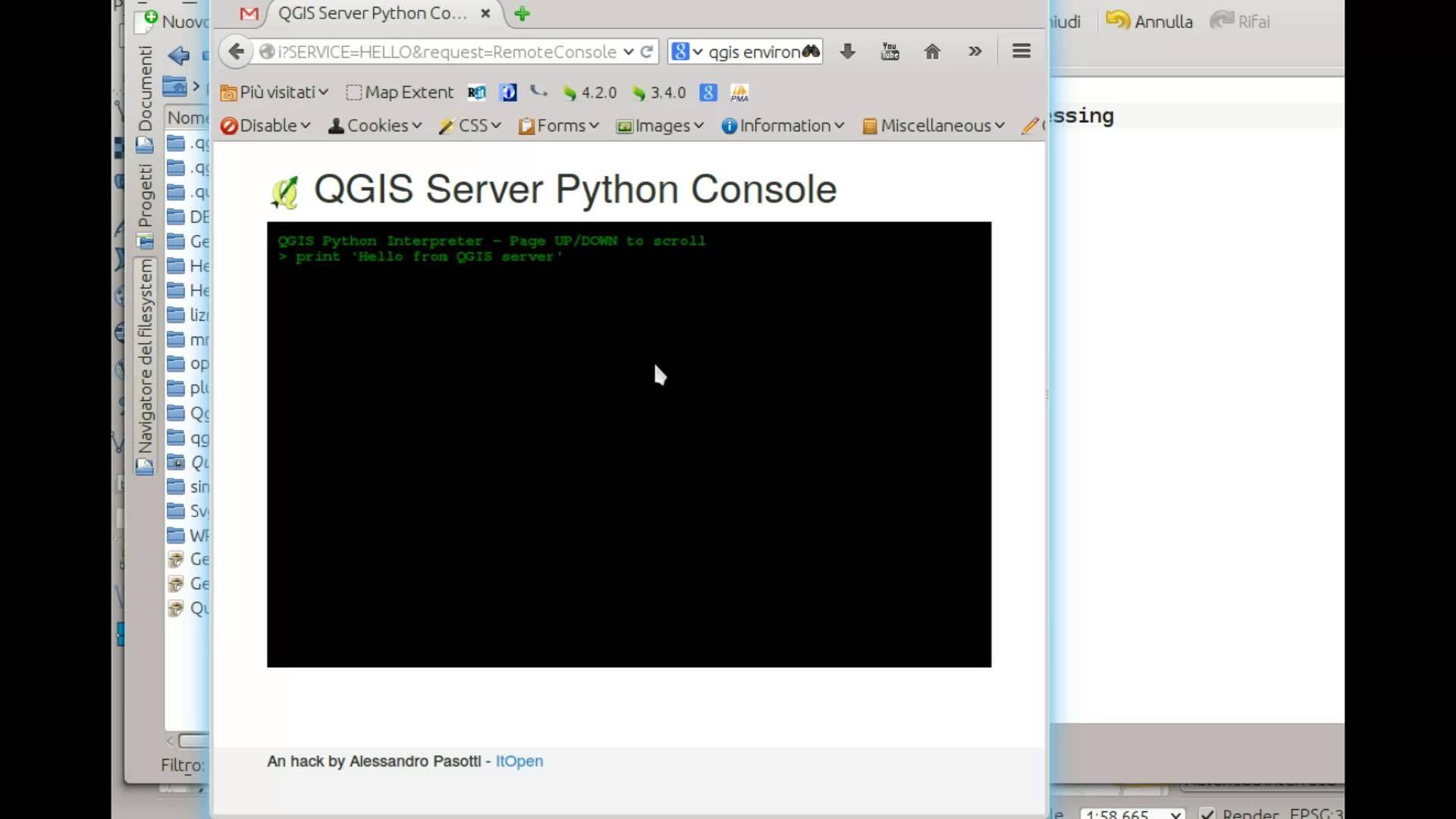 QGIS Server Python Plugins HelloServer Demo | Geospatial