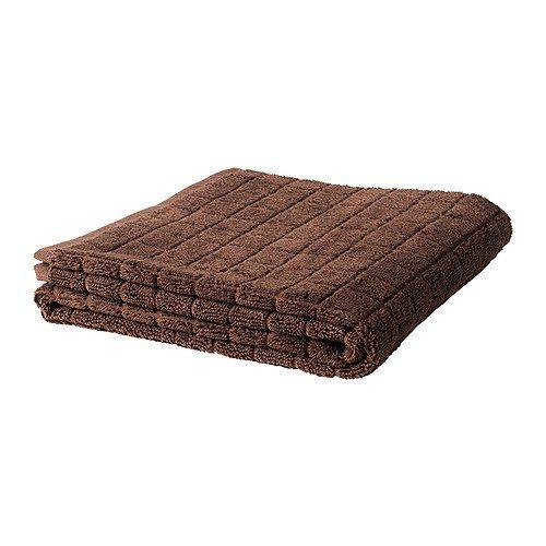 Brown bath towels