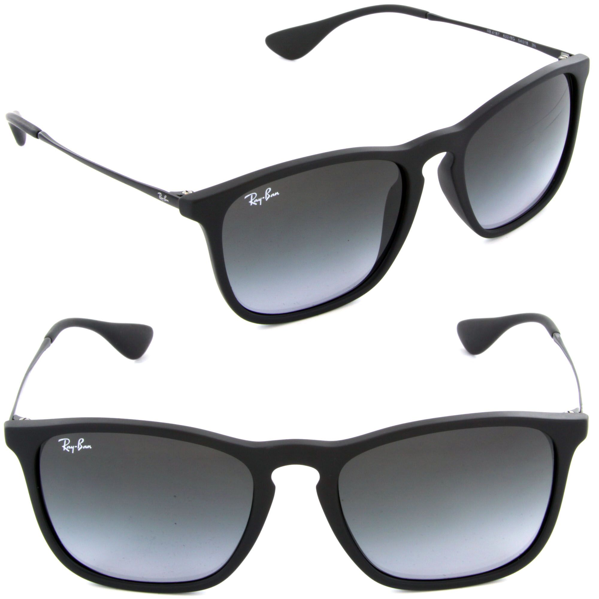 Ray Ban Chris Rb 4187 622 8g Rubber Black Sunglasses Ray Bans Sunglasses Accessories