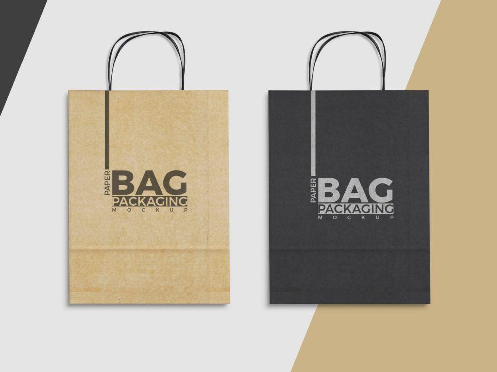 Download Paper Bag Mockup Free PSD | Bag mockup, Paper bag design ...